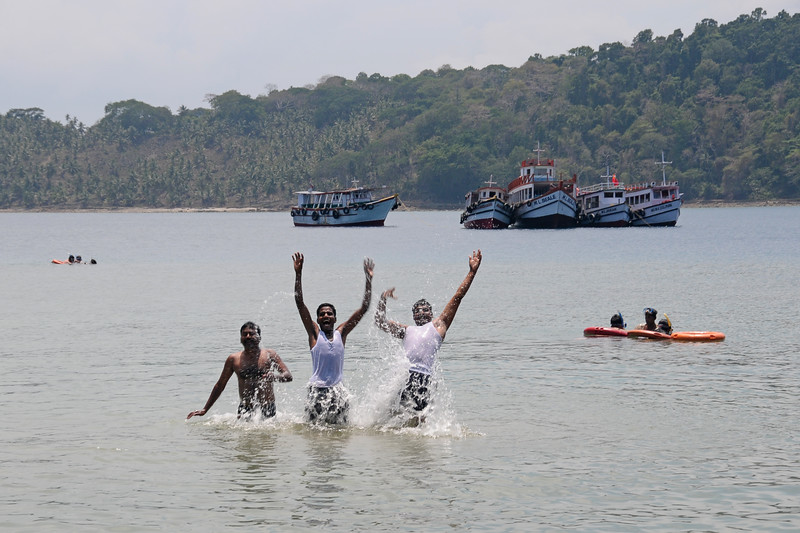 Fun in the water at Jolly Buoy from Port Blair, A&N, Andaman & Nicobar, Islands, India