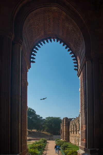 Qutb complex is an UNESCO World Heritage Site in the Mehrauli, Delhi, India. Structures are made of red sandstone and marble.