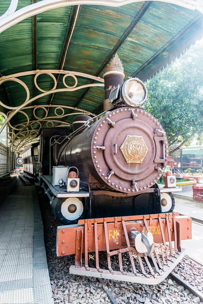 Steam powered locomotive (engine) at the museum. The National Rail Museum is a museum in Chanakyapuri, New Delhi which focuses on the rail heritage of India. Outdoor and indoor exhibit of the 163 years of rich Indian Railway's historic heritage. Rare steam, diesel and electric locos, royal saloons and lots of artifacts can be seen.