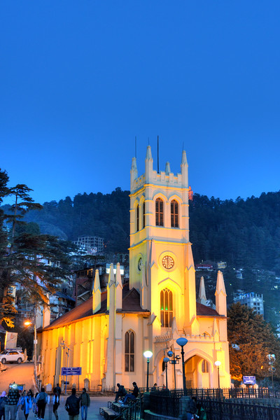 St. Michael's Cathedral has a cruciform design and fi­ne stained glass décor. Located just off the Mall, below the District Courts, the cathedral is a place to revel in.<br /> Shimla is the capital city of the Indian state of Himachal Pradesh, located in northern India at an elevation of 7,200 ft. Due to its weather and view it attracts many tourists. It is also the former capital of the British Raj.