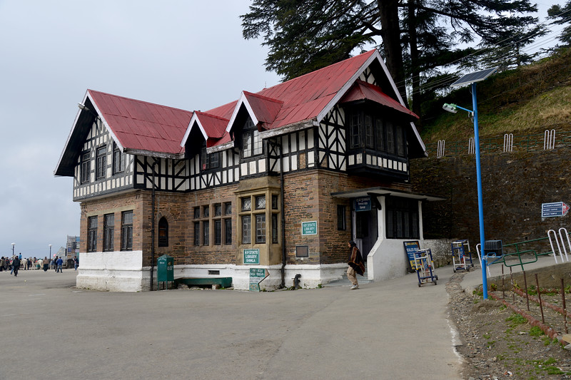 H.P. State Library. Shimla is the capital city of the Indian state of Himachal Pradesh, located in northern India at an elevation of 7,200 ft. Due to its weather and view it attracts many tourists. It is also the former capital of the British Raj.