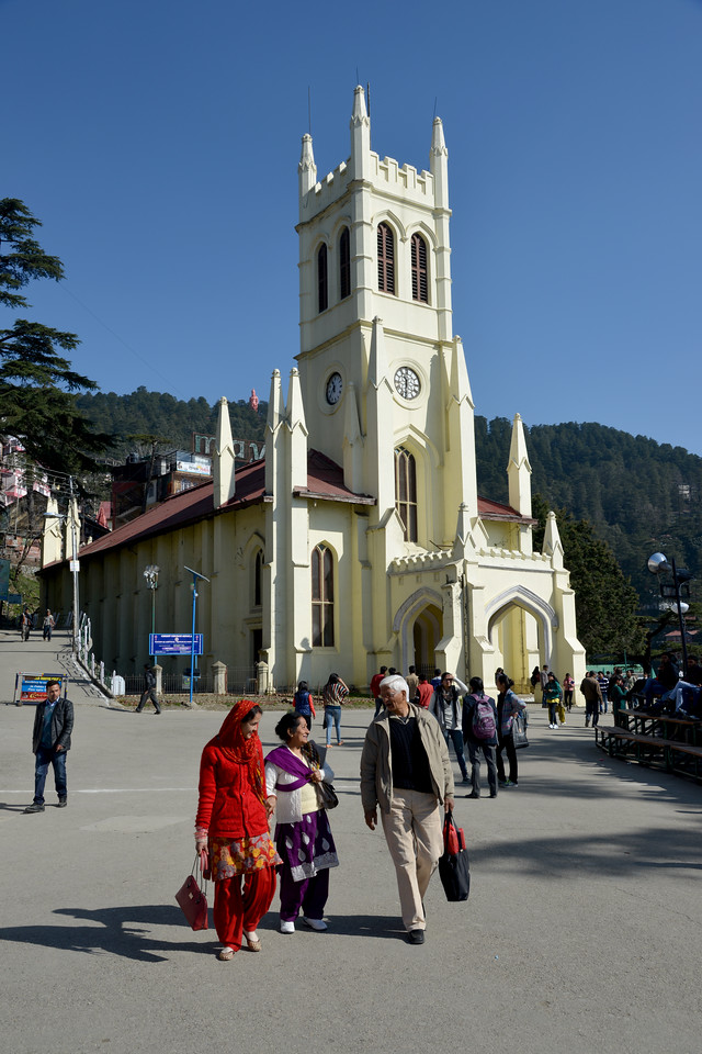 The second oldest church in North India, Christ Church is a beautiful and serene place to be. The church contains five stained glass windows, which represent the Christian virtues of Faith, Hope, Charity, Fortitude, Patience and Humility. The Pipe-Organ of Christ Church is the biggest in the Indian subcontinent and was erected in September 1899. Shimla is the capital city of the Indian state of Himachal Pradesh, located in northern India at an elevation of 7,200 ft. Due to its weather and view it attracts many tourists. It is also the former capital of the British Raj.