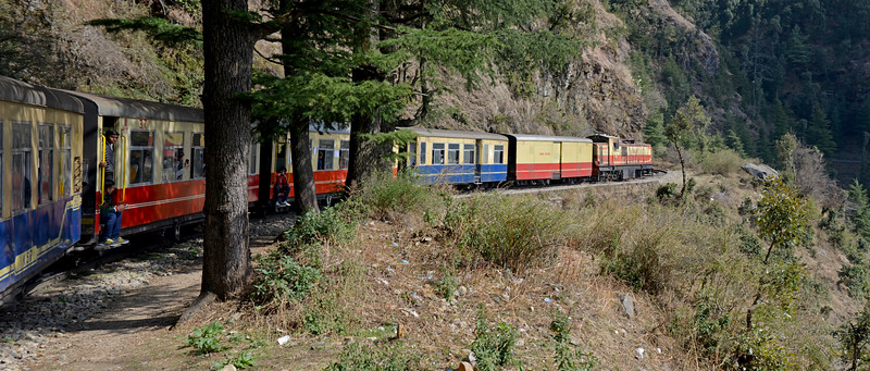 The Kalka–Shimla Railway is a narrow gauge railway in North-West India travelling along a mostly mountainous route from Kalka to Shimla.<br /> Shimla is the capital city of the Indian state of Himachal Pradesh, located in northern India at an elevation of 7,200 ft.