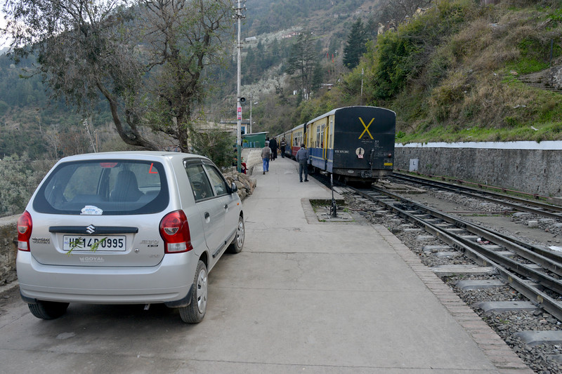 Kandaghat railway station [Station Code - KDZ, Zone - Northern Railways (NR)] which is more than 100-years old is situated on the world heritage Kalka-Shimla narrow gauge railway line.<br /> <br /> Kandaghat is a small town on the Kalka-Shimla National Highway No. 22 in the Solan district of the state of Himachal Pradesh, India. It is about 90kms from Chandigarh (airport).