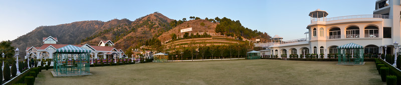 Panoramic view at Club Mahindra, Kandaghat.<br /> <br /> Kandaghat is a small town on the Kalka-Shimla National Highway No. 22 in the Solan district of the state of Himachal Pradesh, India. It is about 90kms from Chandigarh (airport).