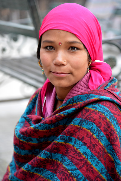 Street portrait. Shimla is the capital city of the Indian state of Himachal Pradesh, located in northern India at an elevation of 7,200 ft. Due to its weather and view it attracts many tourists. It is also the former capital of the British Raj.