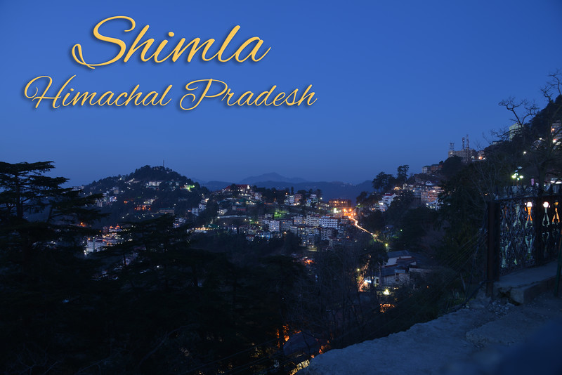 Shimla, Himachal Pradesh, India.<br /> Shimla is the capital city of the Indian state of Himachal Pradesh, located in northern India at an elevation of 7,200 ft.