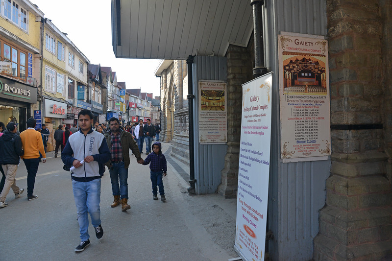 The Gaiety Theatre from the British times. Shimla is the capital city of the Indian state of Himachal Pradesh, located in northern India at an elevation of 7,200 ft. Due to its weather and view it attracts many tourists. It is also the former capital of the British Raj.