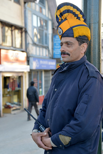 Very elegant and kind police officer at Shimla.<br /> Shimla is the capital city of the Indian state of Himachal Pradesh, located in northern India at an elevation of 7,200 ft. Due to its weather and view it attracts many tourists. It is also the former capital of the British Raj.