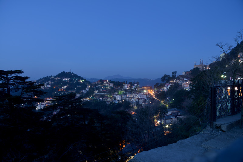 Evening view of Shimla.<br /> Shimla is the capital city of the Indian state of Himachal Pradesh, located in northern India at an elevation of 7,200 ft. Due to its weather and view it attracts many tourists. It is also the former capital of the British Raj.