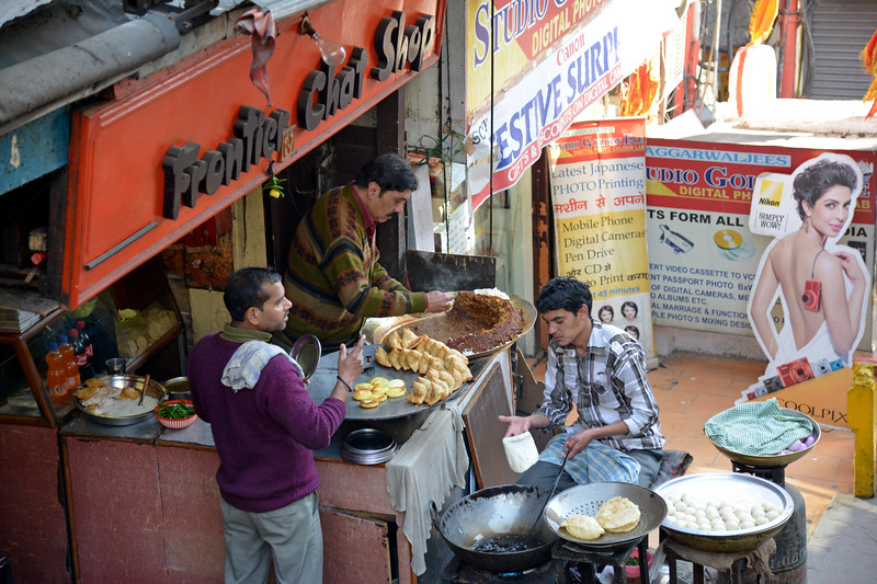 Frontier Chat Shop - Street food in Shimla. Shimla is the capital city of the Indian state of Himachal Pradesh, located in northern India at an elevation of 7,200 ft. Due to its weather and view it attracts many tourists. It is also the former capital of the British Raj.