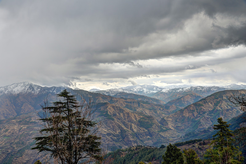 View from our room at Club Mahindra, Whispering Pines, Mashobra (Shimla).<br /> Shimla is the capital city of the Indian state of Himachal Pradesh, located in northern India at an elevation of 7,200 ft. Due to its weather and view it attracts many tourists. It is also the former capital of the British Raj.