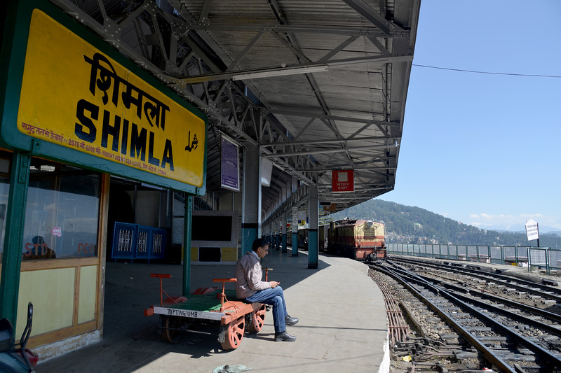 Shimla heritage railway station.<br /> Shimla is the capital city of the Indian state of Himachal Pradesh, located in northern India at an elevation of 7,200 ft. Due to its weather and view it attracts many tourists. It is also the former capital of the British Raj.