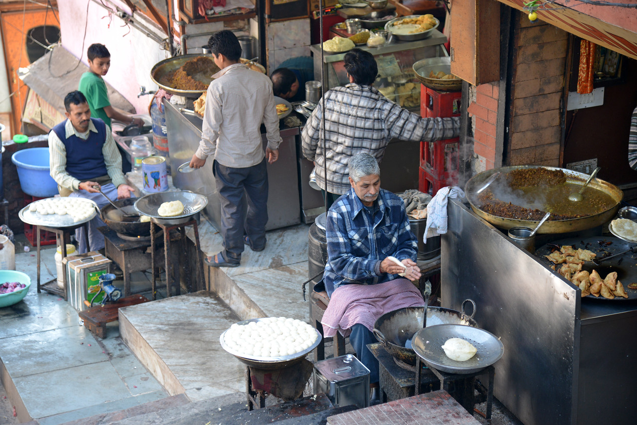 Street food in Shimla. Shimla is the capital city of the Indian state of Himachal Pradesh, located in northern India at an elevation of 7,200 ft. Due to its weather and view it attracts many tourists. It is also the former capital of the British Raj.