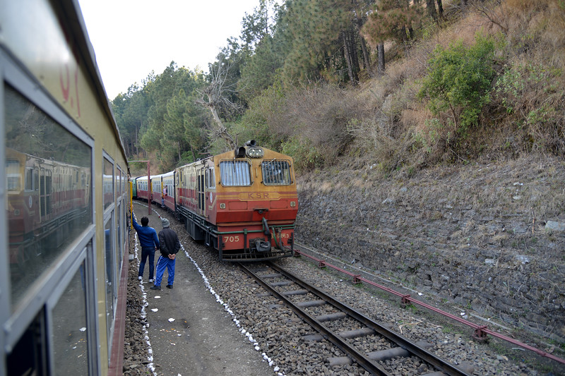 Shogi station. The Kalka–Shimla Railway was included in the UNESCO World Heritage List as part of the World Heritage Site Mountain Railways of India. The route from Kalka to Shimla involves journey through 103 tunnels and 864 bridges. Shimla is the capital city of the Indian state of Himachal Pradesh, located in northern India at an elevation of 7,200 ft. Due to its weather and view it attracts many tourists who arrive on the narrow gauge train.