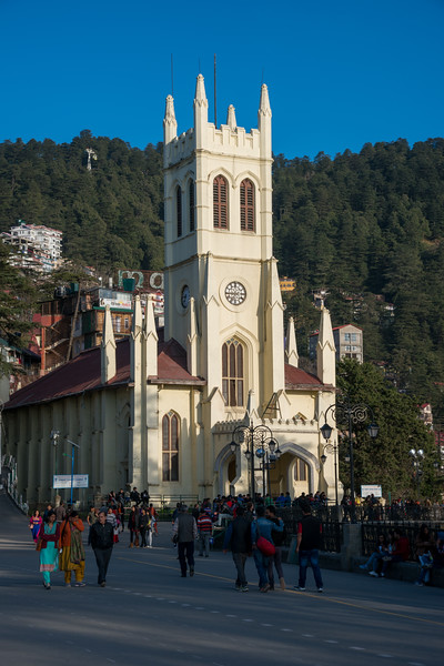 Shimla Christ Church is one of the most identified and photographed structures in Shimla. Located at the Mall Road, Shimla, Himachal Pradesh, India. Christ Church, Shimla, is the second oldest church in North India, after St John's Church in Meerut. It is a parish in the Diocese of Amritsar in the Church of North India.