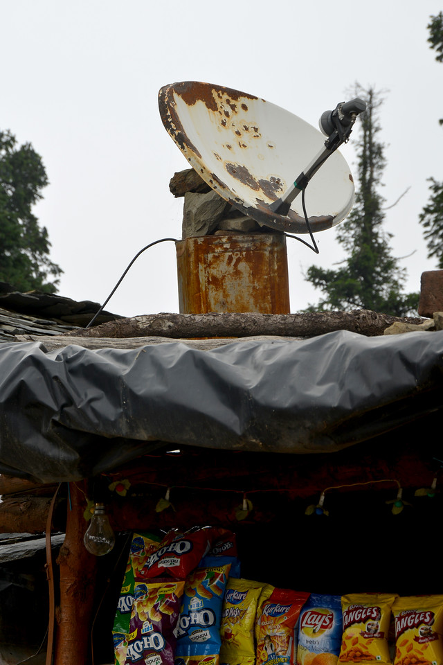 Take a look at the Satellite Dish. Mussoorie, Uttaranchal, India