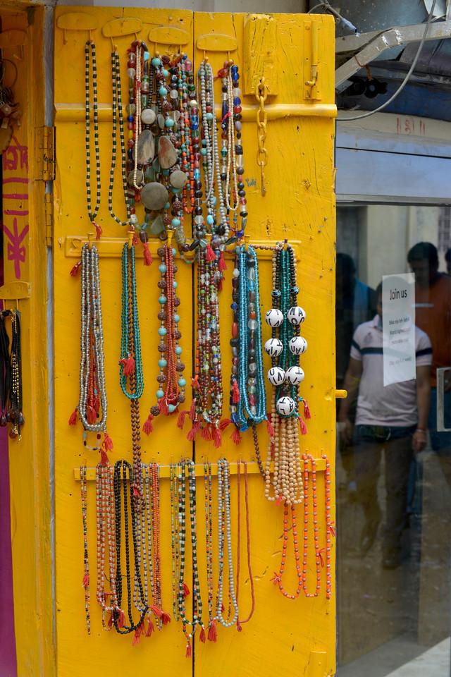 Assorted items on sale at Rishikesh, Uttaranchal, India