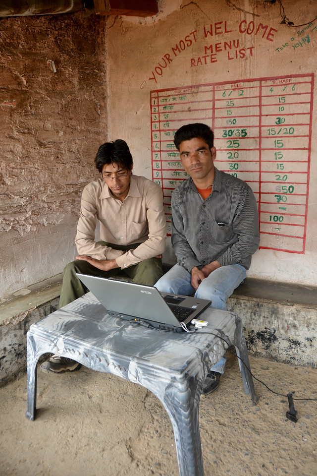 One laptop Internet Cafe. Mussoorie, Uttaranchal, India