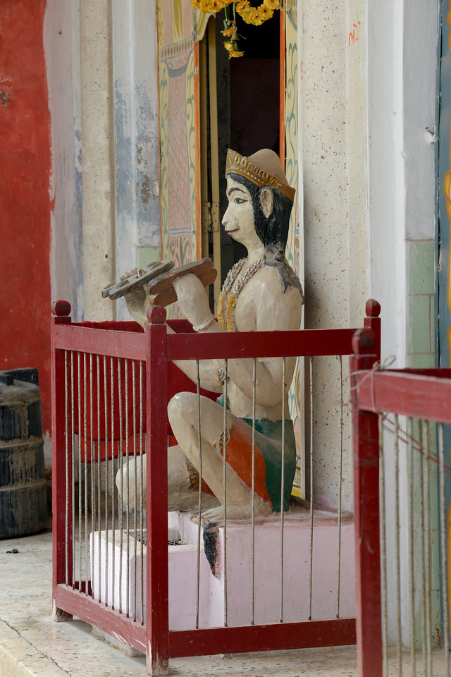 Statue of Hanuman in a temple at Rishikesh, Uttaranchal, India