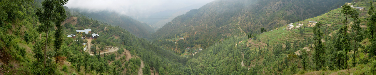 Panoramic view of Uttaranchal, India