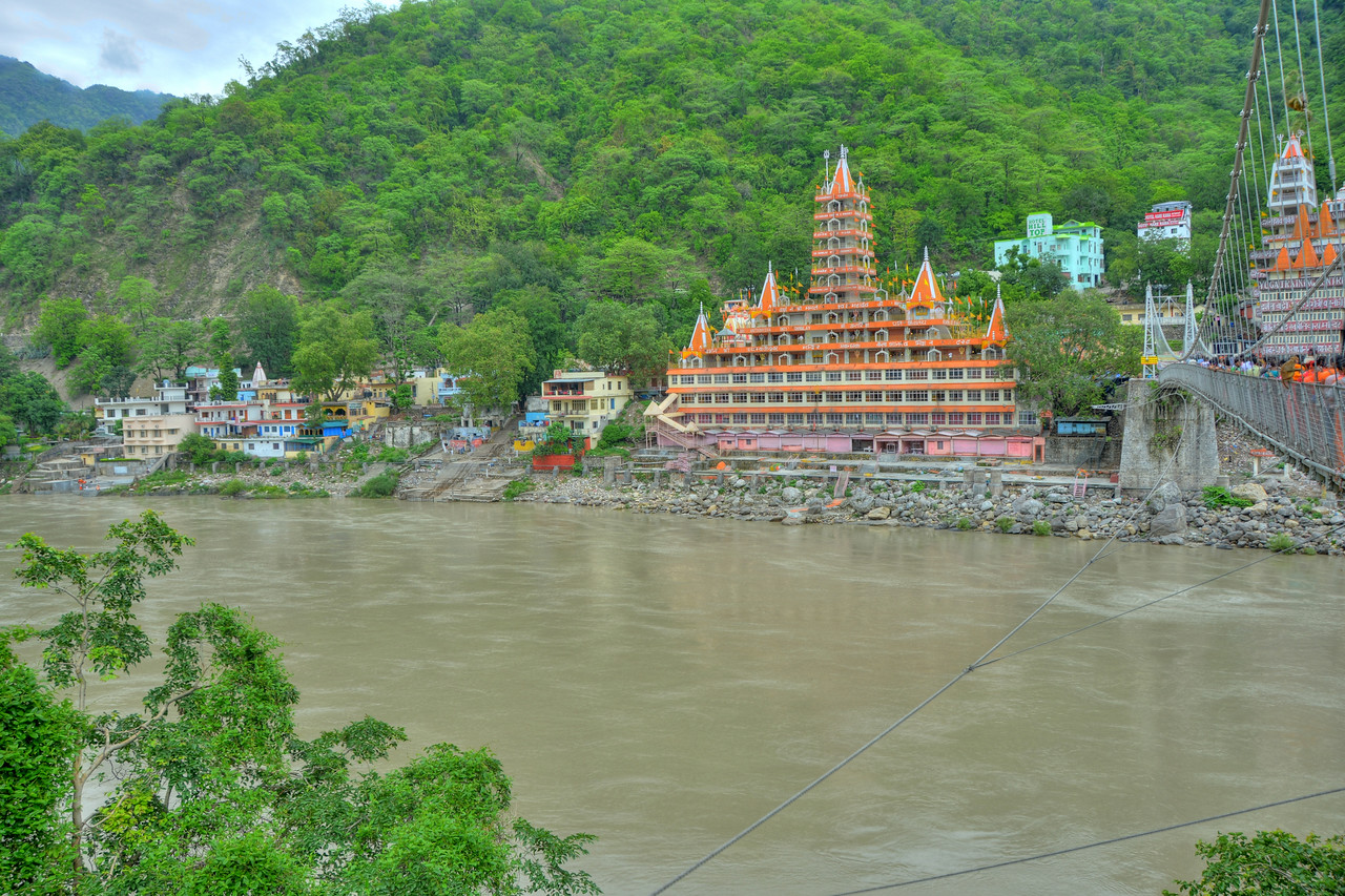 Tonemapped picture of Rishikesh, Uttaranchal, India.