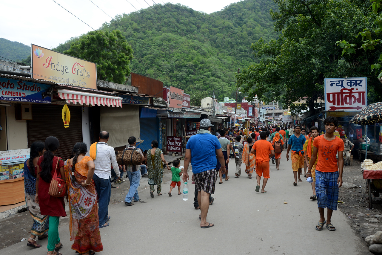 Crowds in Rishikesh, Uttaranchal, India
