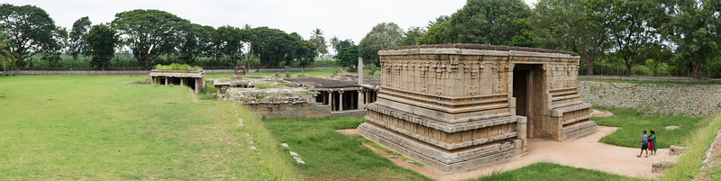 Panoramic view of Underground Lord Shiva Temple.<br /> <br /> Hampi, Karnataka is a world famous UNESCO World Heritage Site. Hampi was one of the largest and richest city in the world during its prime time when it was the imperial capital of the Vijayanagara Empire in the 14th century. Today it continues to be an important religious centre, housing temples and several other monuments belonging to the old city.