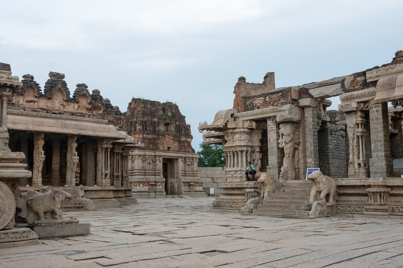 Vittala Temple is the most extravagant architectural showpiece of Hampi.<br /> <br /> Hampi, Karnataka is a world famous UNESCO World Heritage Site.