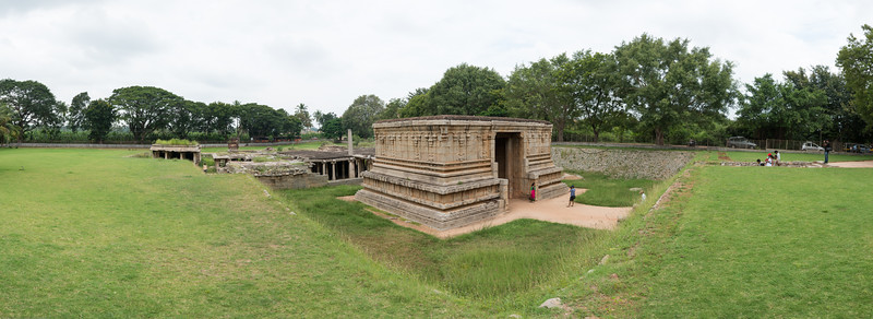Underground Lord Shiva Temple's panoramic view.<br /> <br /> Hampi, Karnataka is a world famous UNESCO World Heritage Site. Hampi was one of the largest and richest city in the world during its prime time when it was the imperial capital of the Vijayanagara Empire in the 14th century. Today it continues to be an important religious centre, housing temples and several other monuments belonging to the old city.
