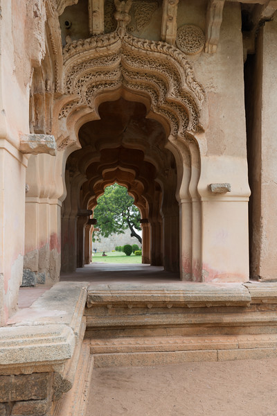 Zenana enclosure was a secluded area reserved for the royal women. This walled harem houses many interesting highlights. The major attraction is the Lotus Mahal located at the southeast corner. Hampi, Karnataka is a world famous UNESCO World Heritage Site.