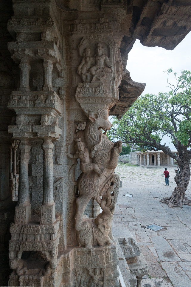 Vittala Temple is the most extravagant architectural showpiece of Hampi with delicate carvings and columns. <br /> Vittala, after whom the temple is known, is a form of Lord Vishnu. The temple was originally built in the 15th century AD. Many successive kings have enhanced the temple campus during their regimes to the present form.