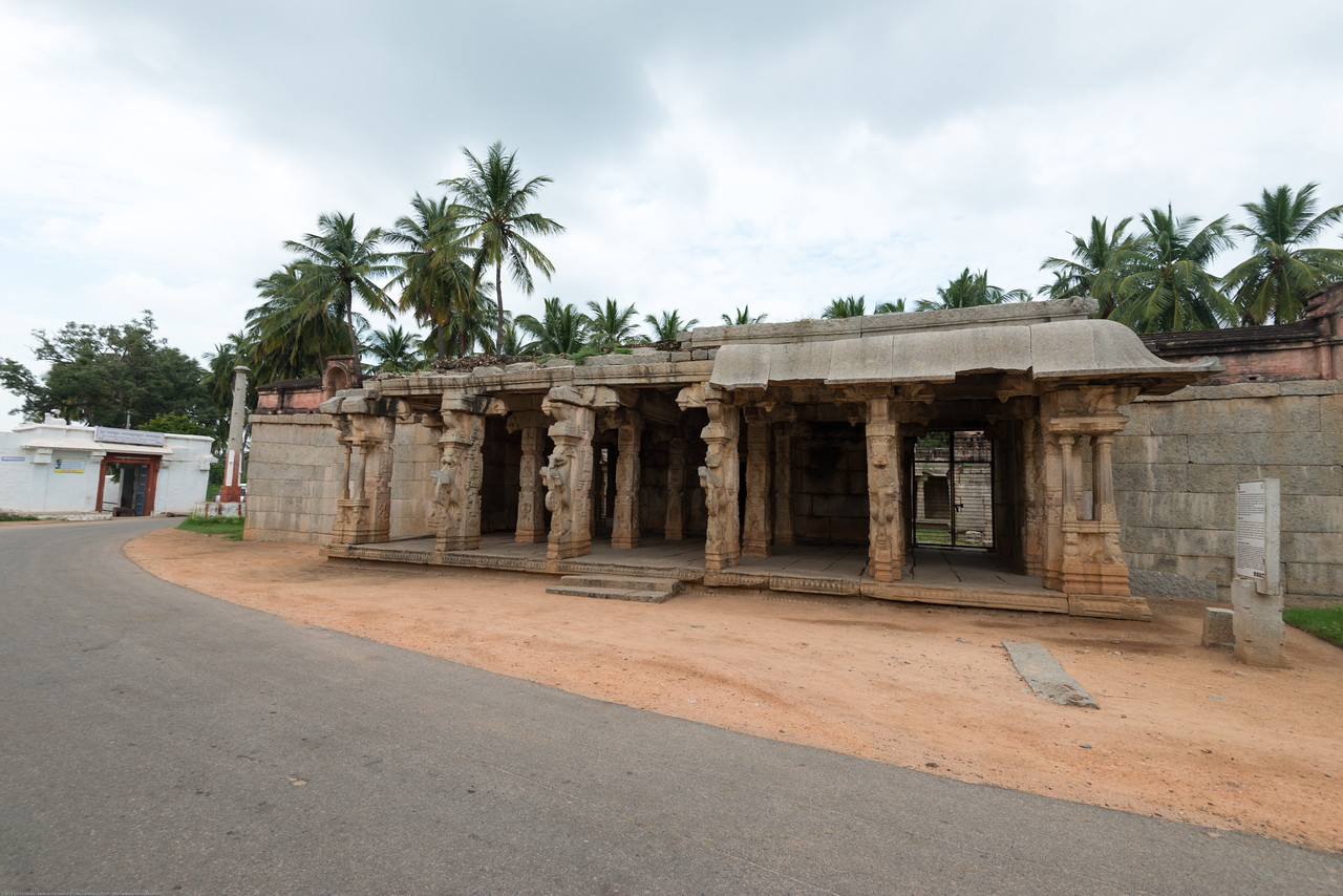The main deity at Chandikeshvar temple is Lord Vishnu. Most of the relief's on the pillars in this temple have Vaishnava representations like Hanuman, Garuda, Balakrishna, Kamadhenu, Srinivasa, Vamana, Yashoda churning the milk etc. The Garbhariha has a pitha carved with the figure of Garuda.<br /> <br /> Hampi, Karnataka is a world famous UNESCO World Heritage Site. Hampi was one of the largest and richest city in the world during its prime time when it was the imperial capital of the Vijayanagara Empire in the 14th century. Today it continues to be an important religious centre, housing temples and several other monuments belonging to the old city.