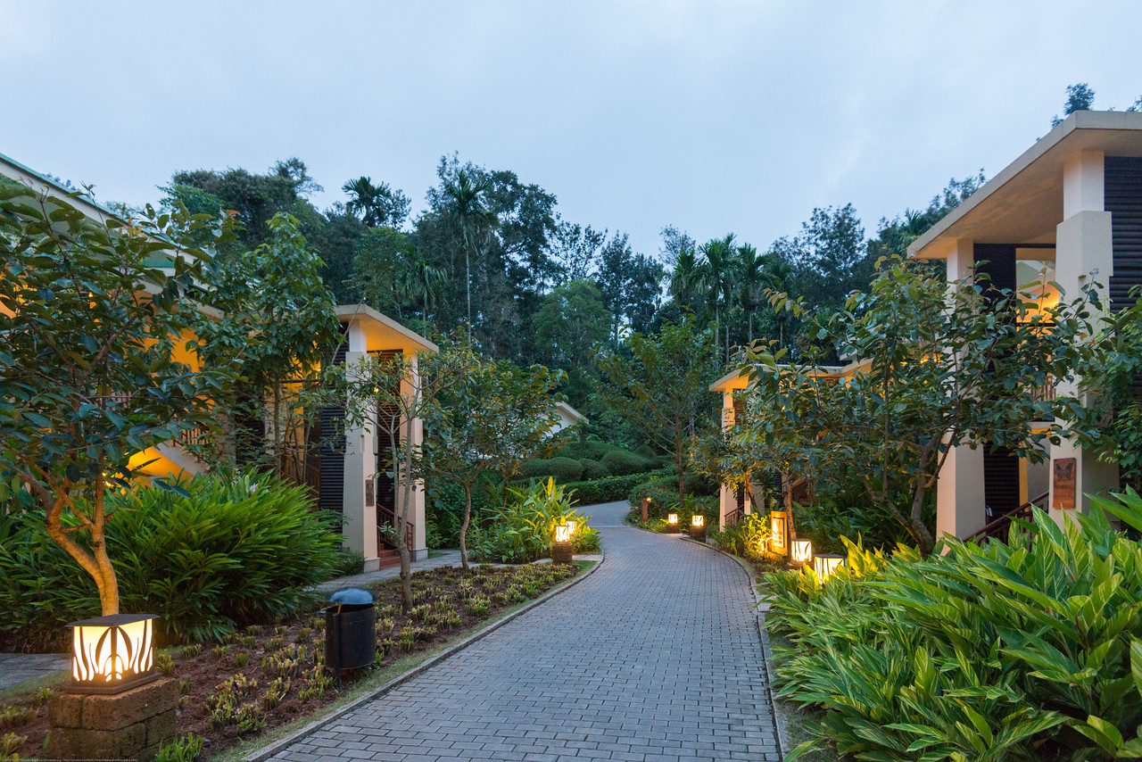 Evening sundown view at the resort. Club Mahindra Virajpet, Coorg-Virajpet quaint retreat in Kodagu Valley. Club Mahindra Virajpet, Coorg-Virajpet quaint retreat in Kodagu Valley.<br /> <br /> Named after the former ruler of Kodagu, Virarajendra, Virajpet is an abbreviation for Virarajendrapete. Virajpet is a small town known for the local coffee and spice crops. Virajpet. This is a large and beautiful resort surrounded by nature.