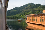 Floating house boats room viiew of Dal Lake, Srinagar, Jammu and Kashmir, India.  They are usually moored at the edges of the Dal Lake and Nageen lakes. Some were built in the early 1900s, a ...