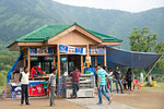 Small food counter at the Tulip Garden, Jammu and Kashmir, India. Asia?s Largest, with 20 lakh tulips of 46 varieties spread over 30 hectares in the foothills of the snow-clad Zabarwan ran ...