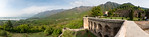 Panoramic view from Pari Mahal (Hindi: ??? ??? ) or The Angels' Abode. Pari Mahal is a seven terraced garden located at the top of Zabarwan mountain range over-looking city of Sr ...