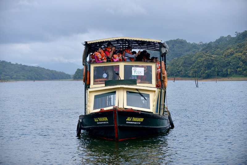 A boat ride is the best way to experience the Periyar National Park.<br /> <br /> Thekkady (Idukki district) in Kerala is the location of the Periyar National Park, which is an important tourist attraction in India. Thekkady sanctuary is located near the Kerala-Tamil Nadu state border and is famous for its dense evergreen, semi-evergreen, moist deciduous forests and savanna grass lands. It is home to herds of elephants, sambar, tigers, gaur, lion-tailed Macaques and Nilgiri Langurs.<br /> <br /> The Periyar Wildlife Sanctuary is spread across 777 km (300 sq mi), of which 360 km (140 sq mi) is thick evergreen forest. This wild life sanctuary was declared a Tiger Reserve in 1978. The splendid artificial lake formed by the Mullaperiyar Dam across the Periyar River adds to the charm of the park. Thekkady is also a heaven for natural spices such as black pepper, cardamom, cinnamon and clove.