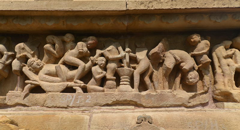 "A few stone carvings depict erotic and sexual acts at Khajuraho. Khajuraho - Land Of The Moon God is located in the Indian state of Madhya Pradesh (MP) and roughly 620 kilometers (385 miles) southeast of New Delhi. Khajuraho was the cultural capital of the Chandela Rajputs, a Hindu dynasty that ruled from the 10th to 12th centuries. The temples of Khajuraho are famous for their so-called ""erotic sculptures"".<br /> <br /> Symbolising a medieval legacy, the Khajuraho temples are a perfect fusion of architectural and sculptural excellence, representing one of the finest examples of Indian art. To some, they are the most graphic, erotic and sensuous sculptures the world has ever known. But Khajuraho has not received the attention it deserves for its significant contribution to the religious art of India - there are literally hundreds of exquisite images on the interior and exterior walls of the shrines.<br /> <br /> Architecturally they are unique. While each temple has a distinct plan and design, several features are common to all. They are all built on high platforms, several metres off the ground. The stone used throughout is either granite or a combination of light sandstone and granite. Each of these temples has an entrance hall or mandapa, and a sanctum sanctorum or garbha griha. The roofs of these various sections have a distinct form. The porch and hall have pyramidal roofs made of several horizontal layers. The inner sanctum's roof is a conical tower - a colossal pile of stone (often 30m high) made of an arrangement of miniature towers called shikharas."