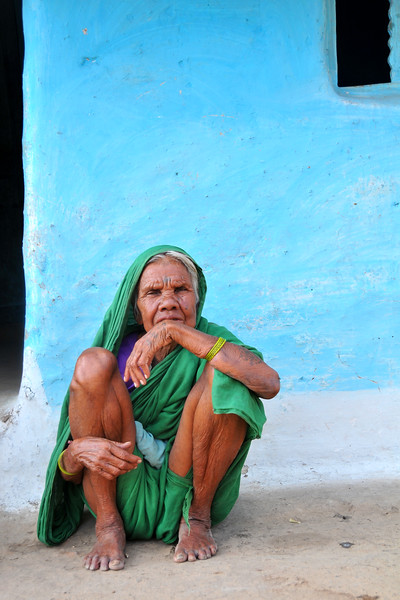 Lady in the village.<br /> Villages in rural India in the state of Maharashtra.