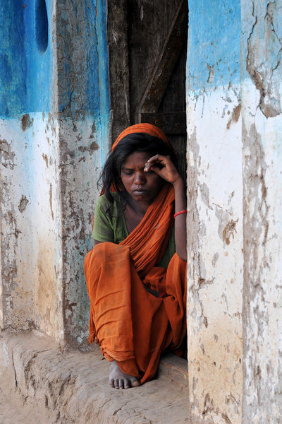Mental imbalance is not uncommon due to many factors including diet in villages.<br /> Villages in rural India in the state of Maharashtra.