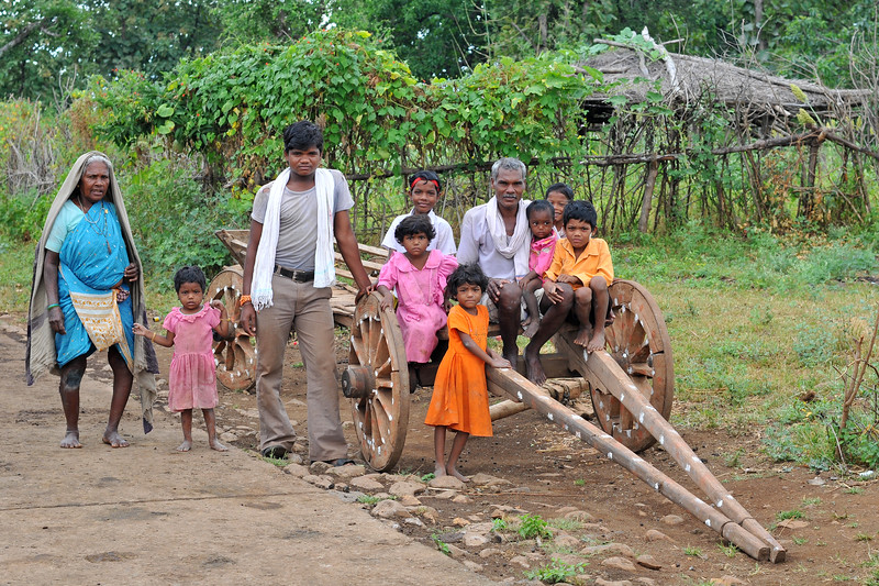 Community living in villages in rural India in the state of Maharashtra.