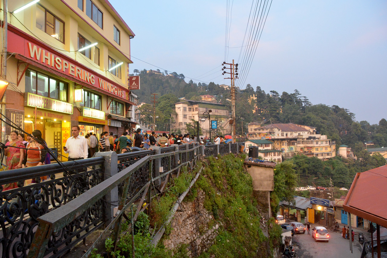 Main market area in Mussoorie, Uttaranchal, India