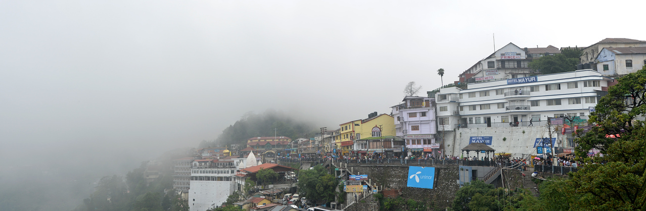 Panoramic view of Mussoorie, Uttaranchal, India