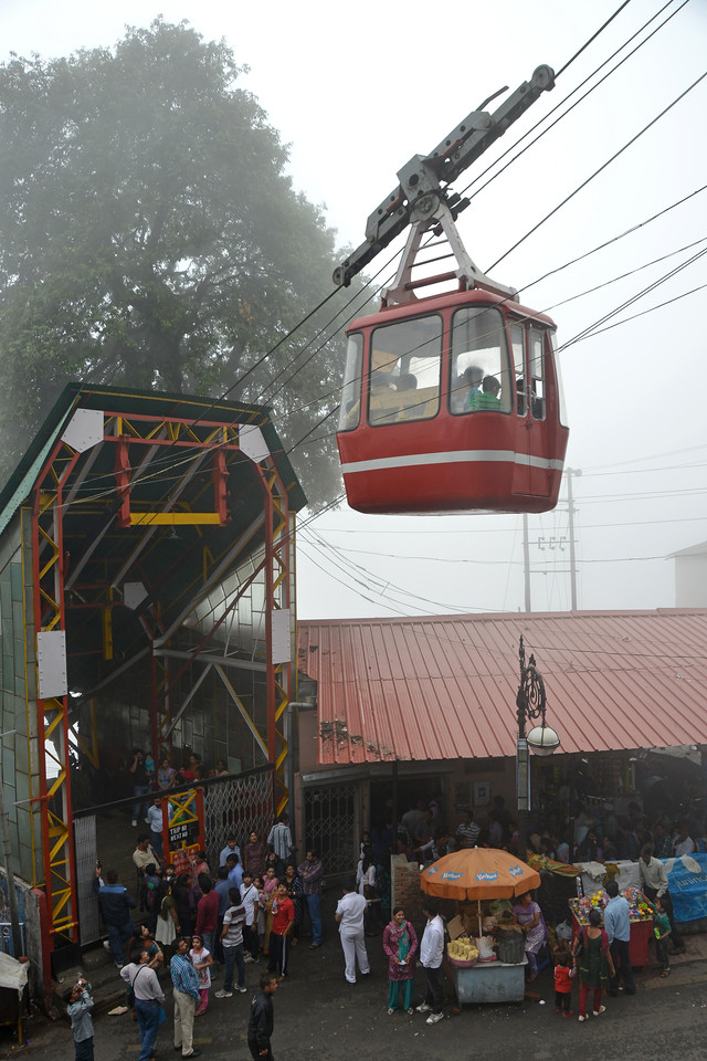 Cable Car in Mussoorie, Uttaranchal, India