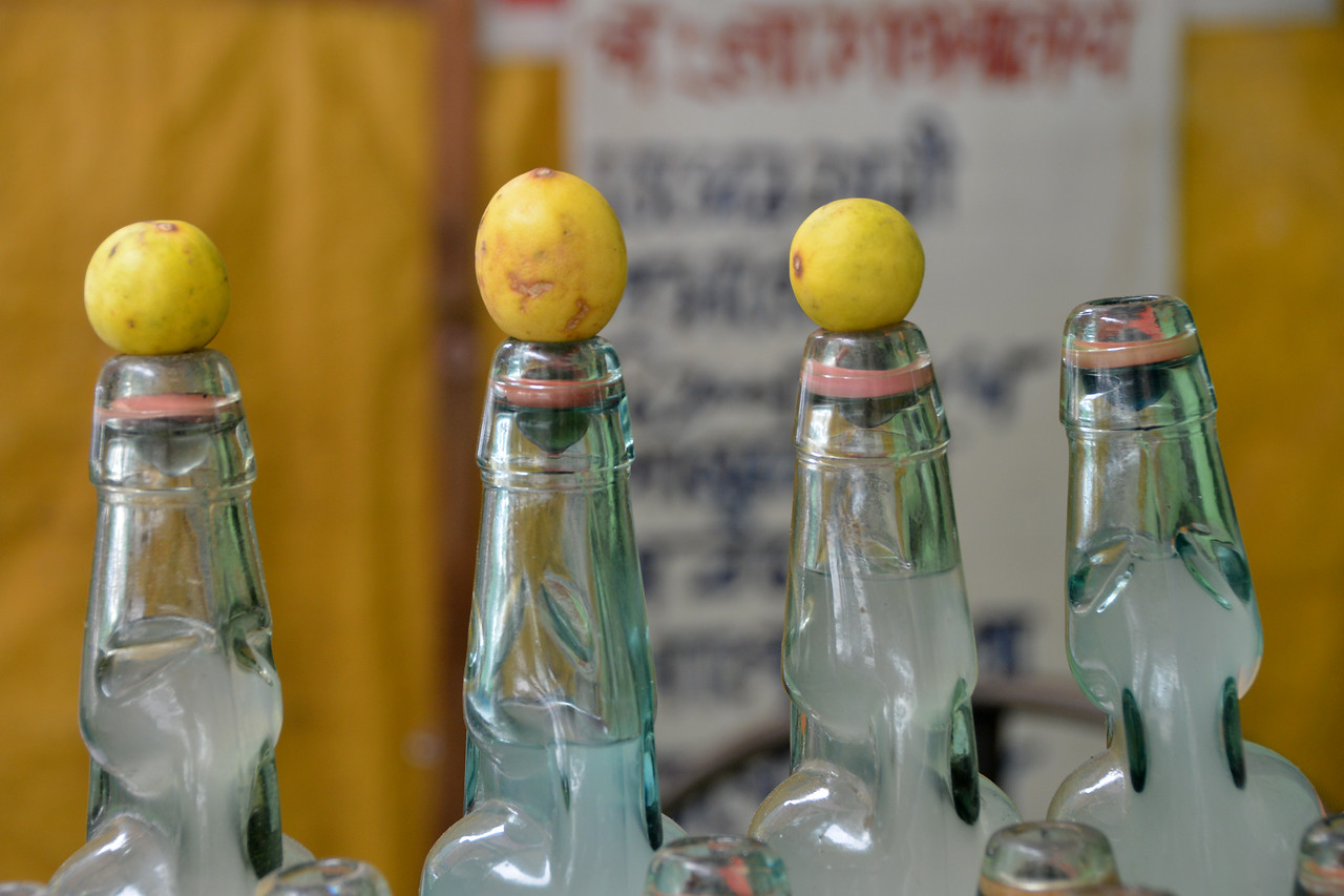 Street lime-soda in Mussoorie, Uttaranchal, India