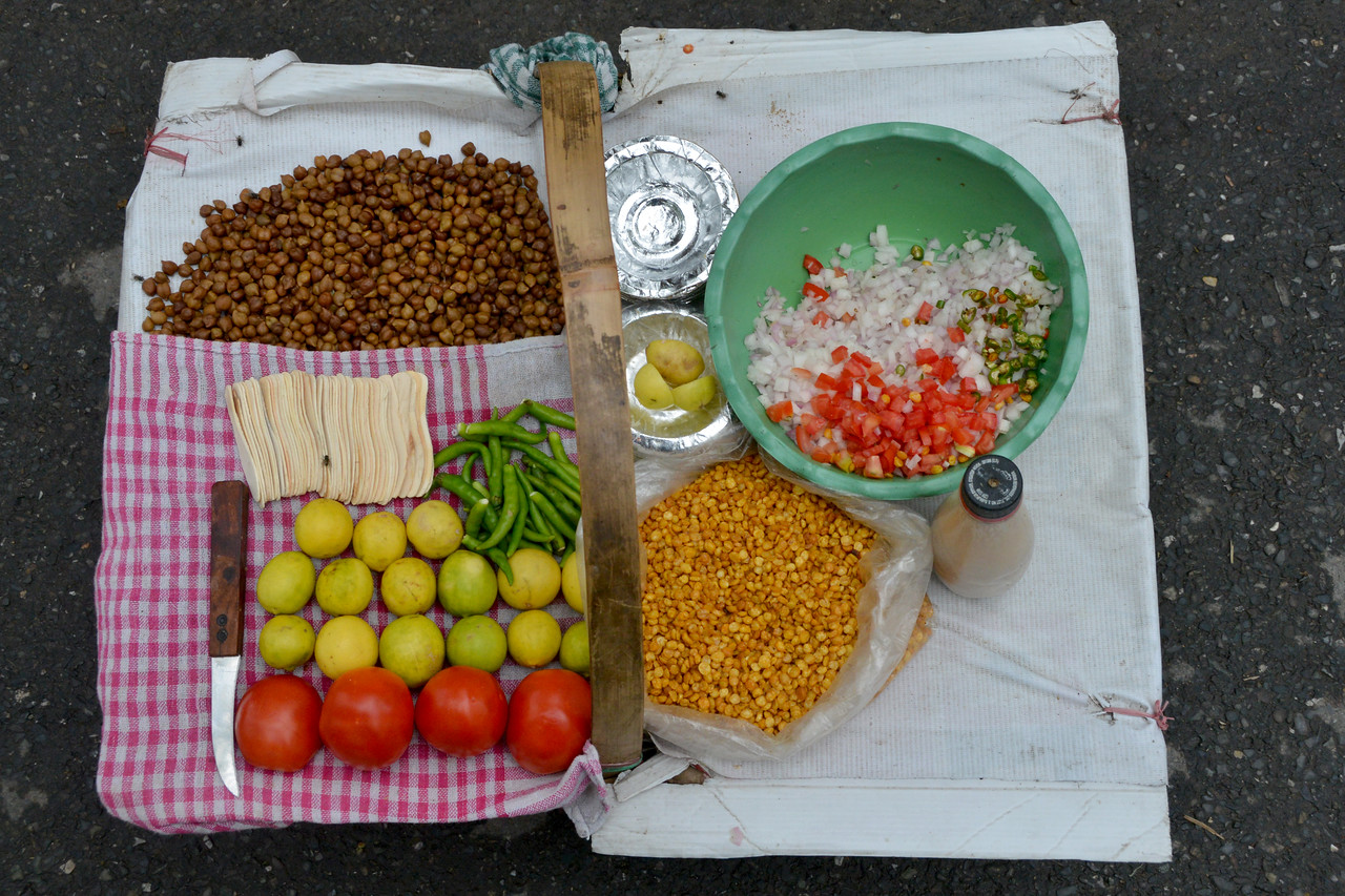 Street food in Mussoorie, Uttaranchal, India