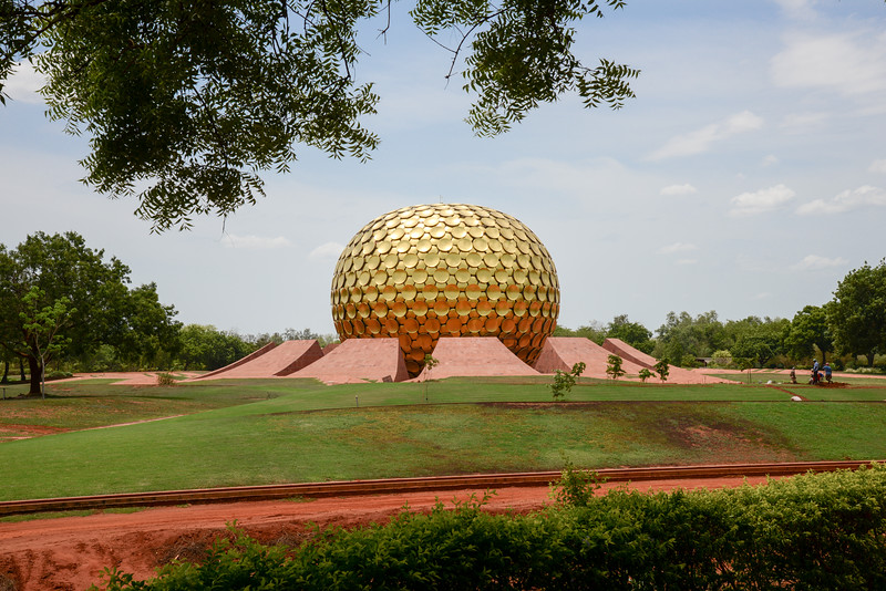 The Matrimandir is the edifice of spiritual significance for practitioners of Integral yoga, situated at the centre of Auroville initiated by The Mother of the Sri Aurobindo Ashram. It is called soul of the city and is situated in a large open space called Peace.<br /> <br /> Matrimandir View Point, Auroville, Pudducherry, South India.