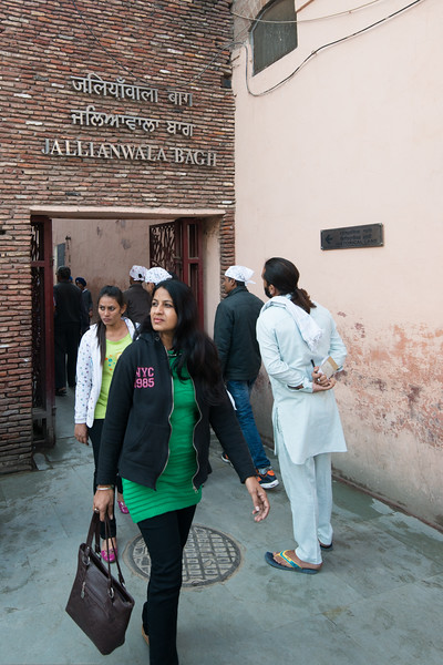 Narrow passage to Jallianwala Bagh Garden through which the shooting was conducted