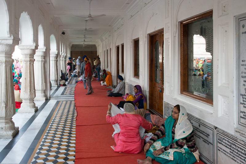 "Many stay over and pray at the Golden Temple. The Harmandir Sahib (Punjabi: ਹਰਿਮੰਦਰ ਸਾਹਿਬ), also Darbar Sahib (Punjabi: ਦਰਬਾਰ ਸਾਹਿਬ, )(The abode of God), and informally called the ""Golden Temple"", is the holiest Sikh gurdwara located in the city of Amritsar, Punjab, North India."
